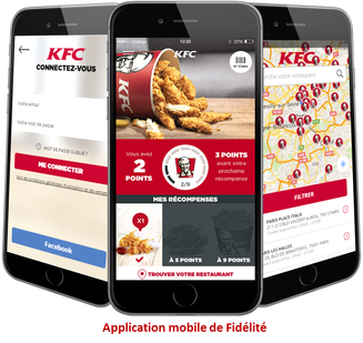 KFC, application mobile de fidélité